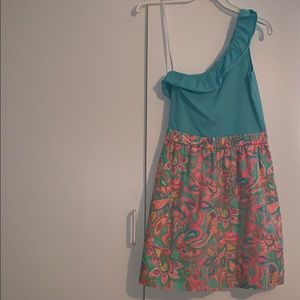 Lilly Pulitzer one shoulder dress size XS